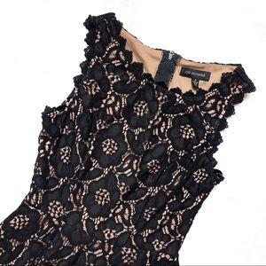 Jodi Kristopher Black Lace Sleeveless Mini Dress